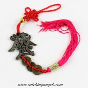 Prosperity Symbol with Coins and Lucky Knot