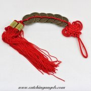 Feng Shui 6 Chinese Coins Tassel Amulet