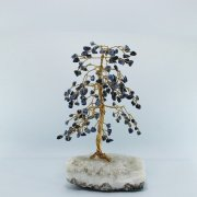 Sodalite 160 Gem Chip Tree on Calcite Base