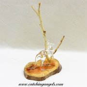 Blown Glass Kangaroo on Wood