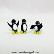 Set of 3 Glass Penguin Figurines