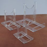3 x Clear Acrylic Stand Medium Adjustable Two Part Easel