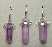 Amethyst Point Pendant Silver Plated Bail