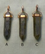 Labradorite Point Pendant 925 Gold Plated Bail