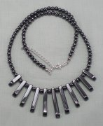 Hematite Bib Necklace