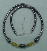 Hematite Citrine and Peridot Necklace