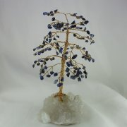 Sodalite 160 Gem Chip Tree on Apophyllite Cluster Base