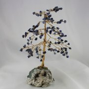Sodalite 160 Gem Chip Tree on Zeolite Mineral Base
