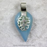 Chalcedony Inverted Teardrop Pendant