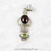 Amethyst and Peridot Sterling Silver Pendant