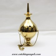 Hanging Brass Censer Charcoal Burner 19cm