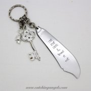 Butter Knife Recycled Keychain