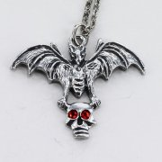 Bat Carrying Skull Necklace