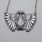 Winged Scarab Necklace