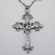 Bat on Cross Necklace