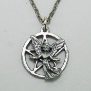 Angel on Pentagram Necklace