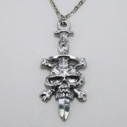 Skull & Crossbones Dagger Necklace