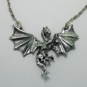 Fighting Dragon Necklace