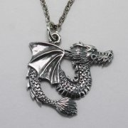Winged Chinese Dragon Necklace
