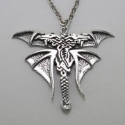 Celtic Double Headed Dragon Necklace