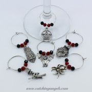 Halloween Wine Glass Charms Set of 6
