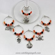 Halloween Wine Glass Charms 6 Set