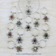 Spider Wine Glass Charms Set of 12
