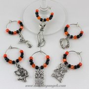 Spooky Wine Glass Charms Set of 6