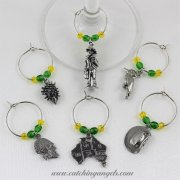 Aussie Wine Glass Charms Set of 6
