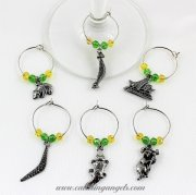 Australia Theme Wine Charms Set of 6