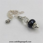 Black & White Ceramic Bead Pendulum