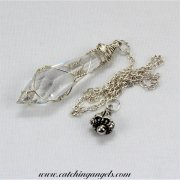 Swarovski Icicle Crystal Pendulum Wire Wrapped