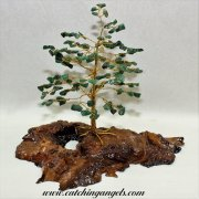 Green Aventurine 160 Gem Chip Tree on Mallee Root Base