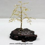 Citrine 100 Gem Chip Tree on Mallee Root Base