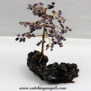 Amethyst 160 Gem Chip Tree on Mallee Root Base