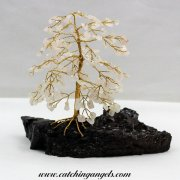 Rose Quartz 160 Gem Chip Tree of Mallee Root Base