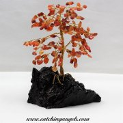 Carnelian 160 Gem Chip Tree on Mallee Root Base