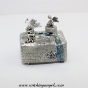 Pewter Fairy Music Box