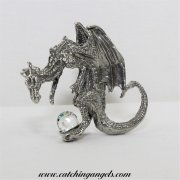 Medieval Dragon with Crystal