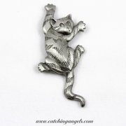 Scaredy Cat Pin Vintage JJ Jonet