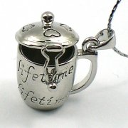 Coffee Mug Perfume Locket Necklace