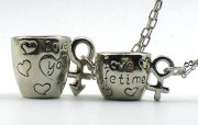 Couple Cups Stainless Steel Necklaces