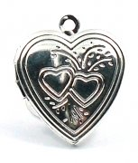 Silver Heart Picture Locket