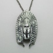 Indian Chief Headdress Necklace