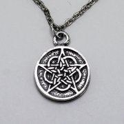 Double Sided Rose Pentacle Necklace