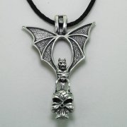 Bat and Skull Necklace