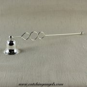 Silver Metal Candle Snuffer