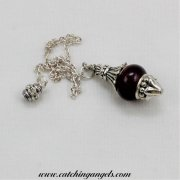 Purple Ceramic Bead Pendulum