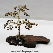 Tiger Eye 100 Gem Chip Tree on Mallee Root Base