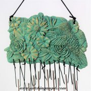 Hummingbird & Flowers Wind Chime